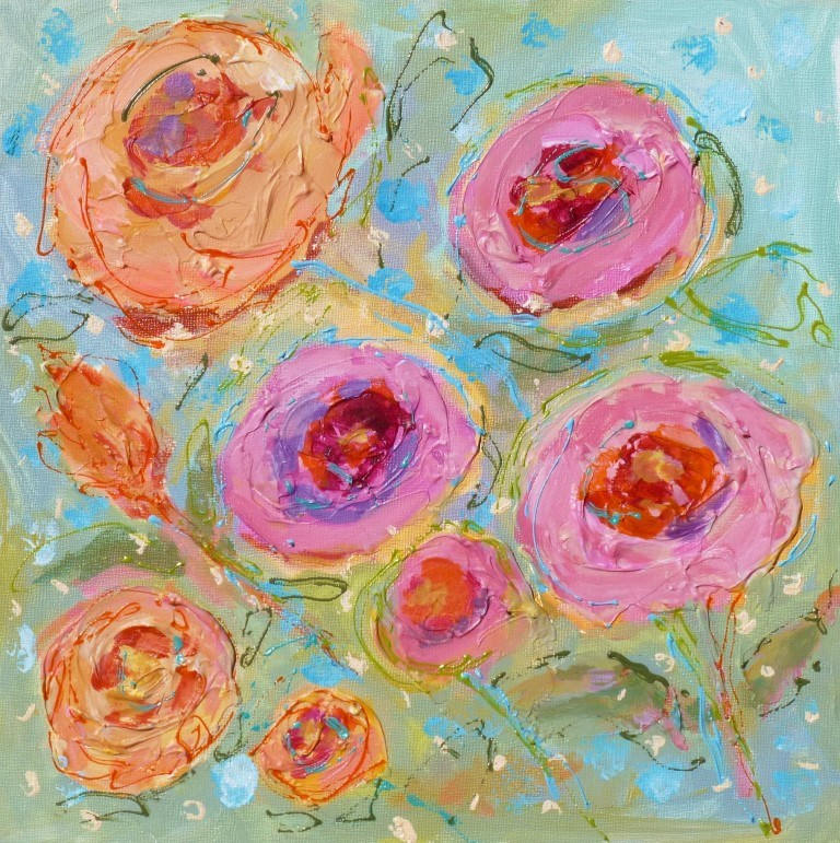 """Banner Roses 14050"" original fine art by Nancy Standlee"