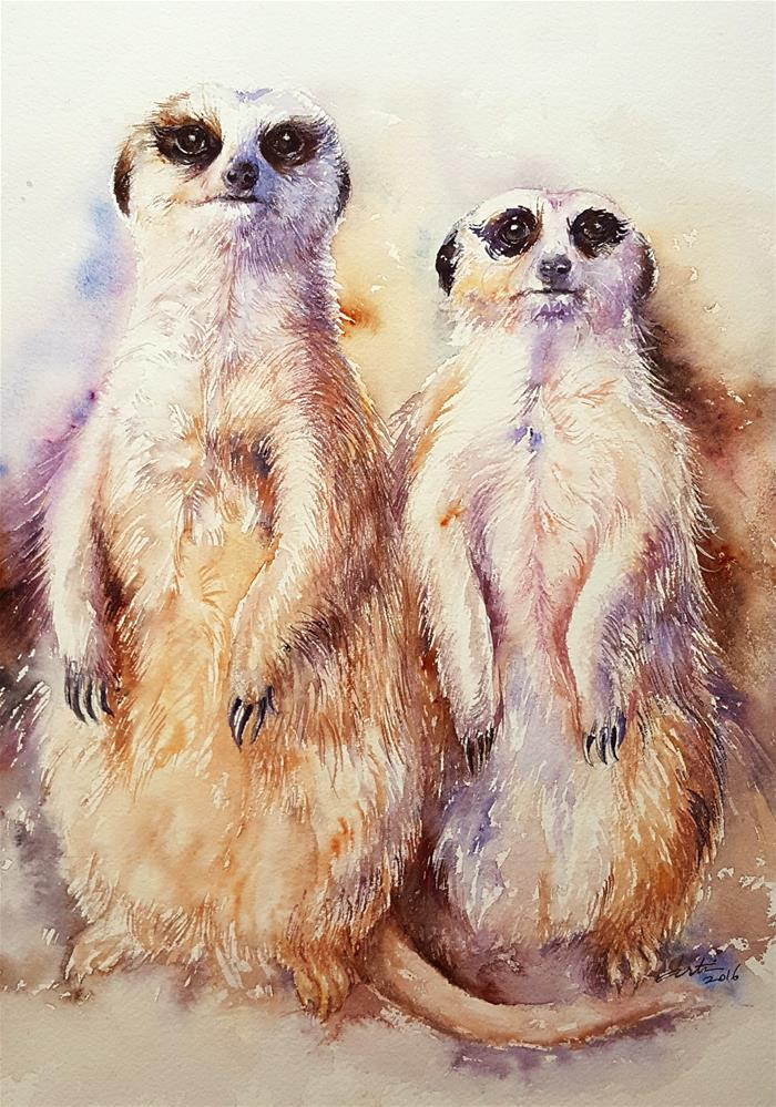 """""""Oh Brother!"""" original fine art by Arti Chauhan"""