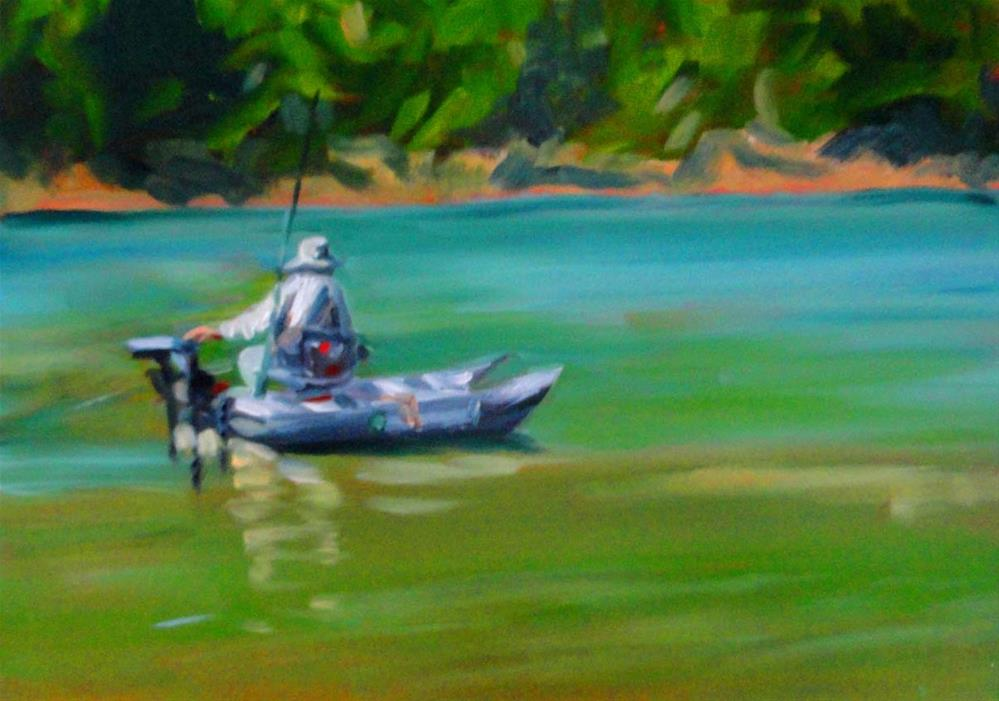 """Catch And Release"" original fine art by Cietha Wilson"