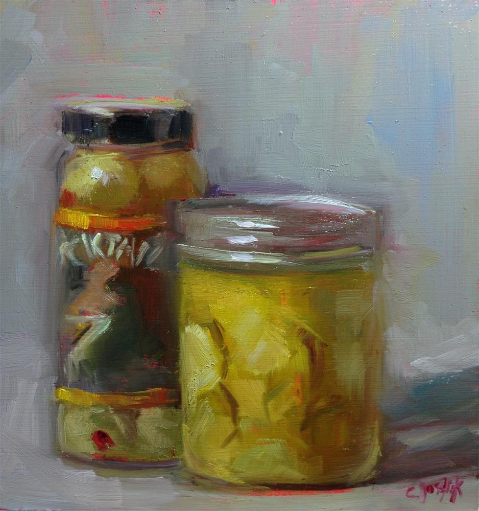 """Pickles and Olives"" original fine art by Carol Josefiak"
