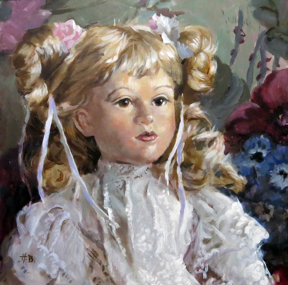 """doll 1"" original fine art by Harry Burman"