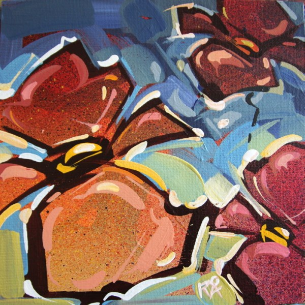"""Flower Abstraction 172"" original fine art by Roger Akesson"