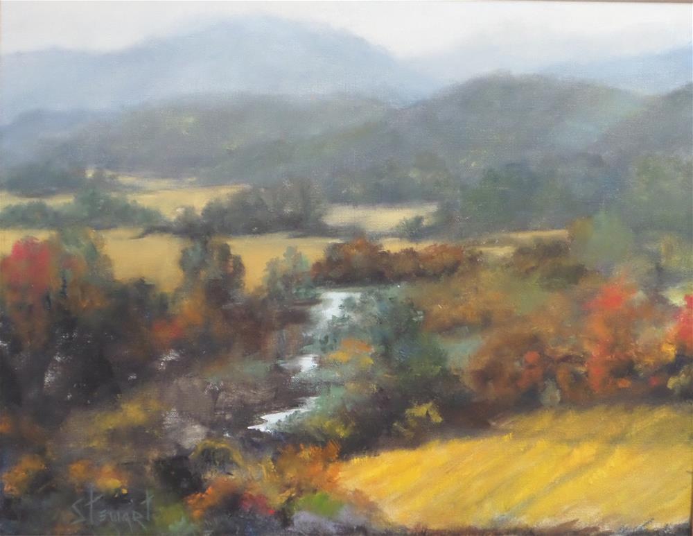 """OREGON WINE COUNTRY"" original fine art by Kris Stewart"