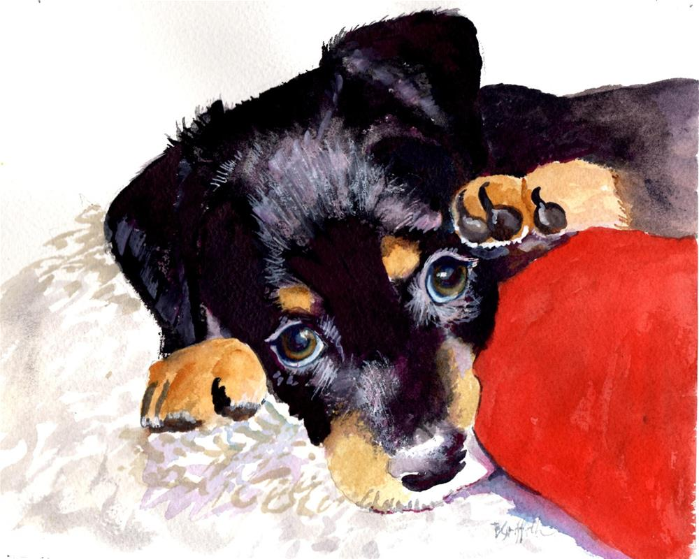 """Puppy"" original fine art by Bunny Griffeth"