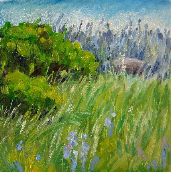 """At The Hill Top"" original fine art by Nicki Ault"
