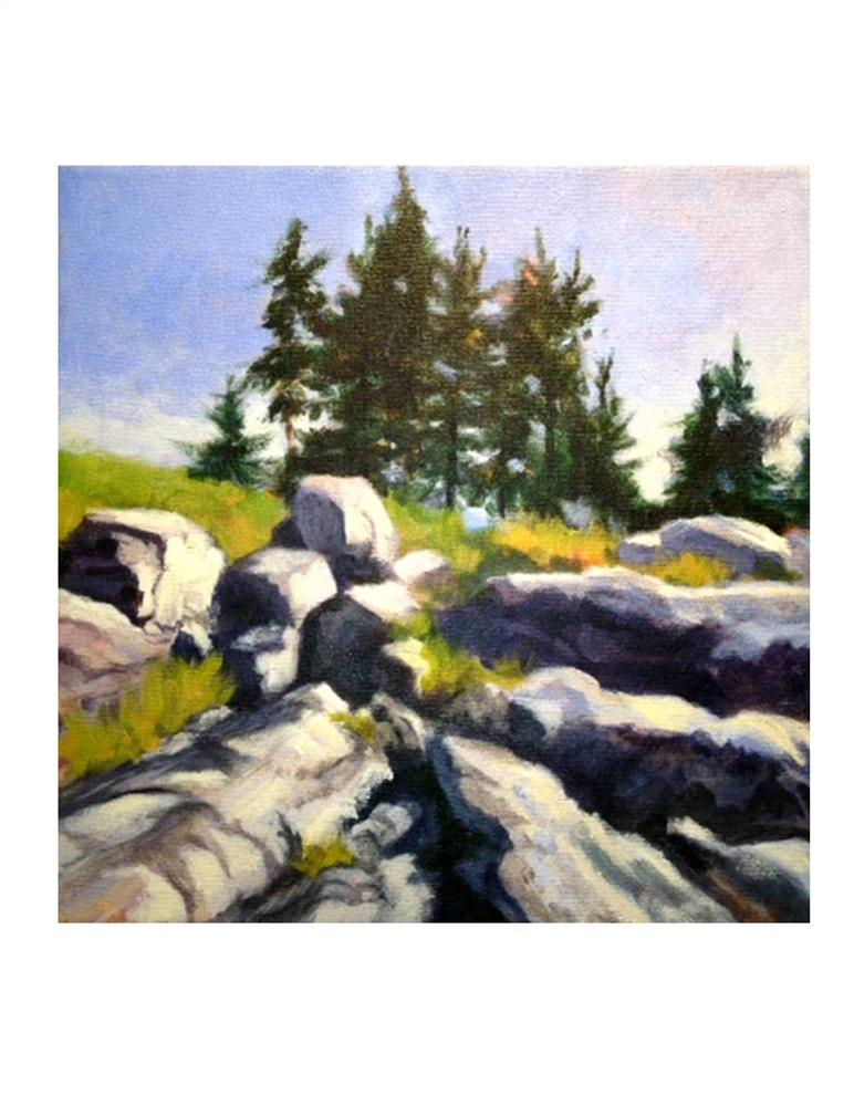 """Rocky Landscape - Monhegan"" original fine art by Suzanne Woodward"
