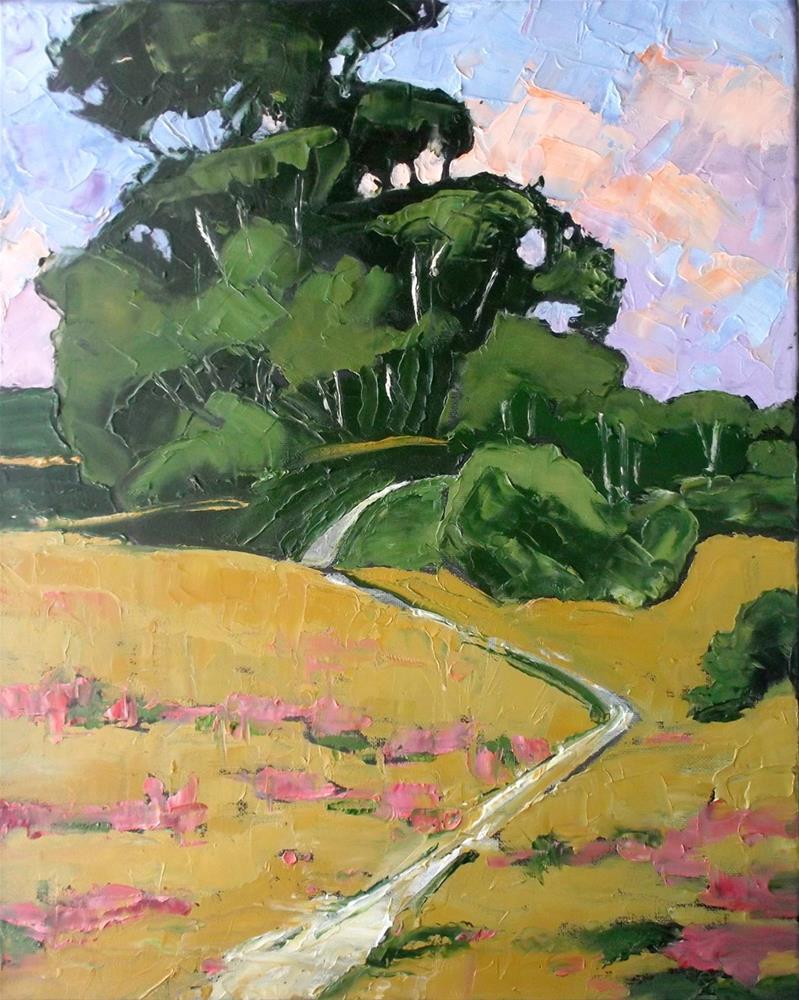 """Eucalyptus Wildflower Hills"" original fine art by lynne french"