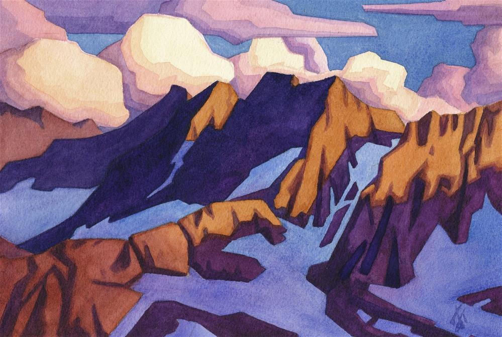 """Sierra Divide - Palisade Glacier"" original fine art by Mark Allison"