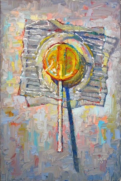 """Lollipop Lemon"" original fine art by Raymond Logan"