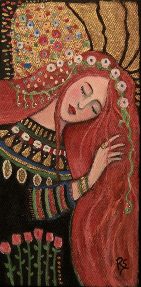 """""""In The Garden of Tranquility"""" original fine art by Roberta Schmidt"""