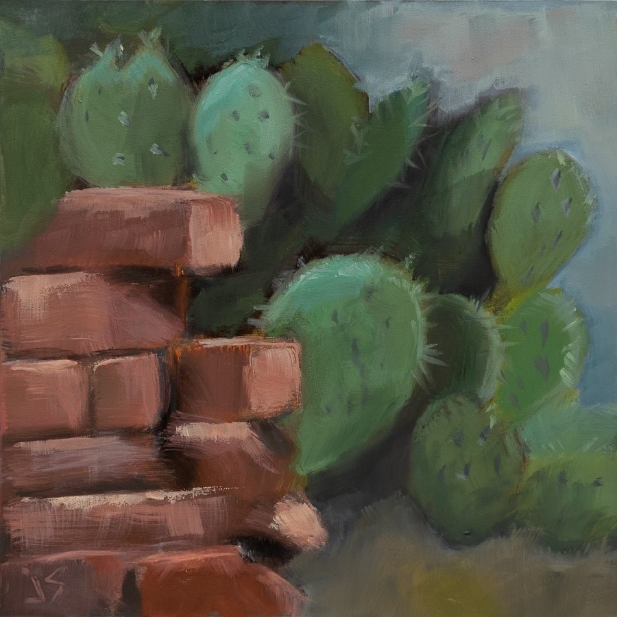"""""""Crumbling Wall"""" original fine art by Johnna Schelling"""