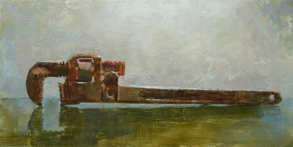 """Pipe Wrench"" original fine art by Ron Ferkol"