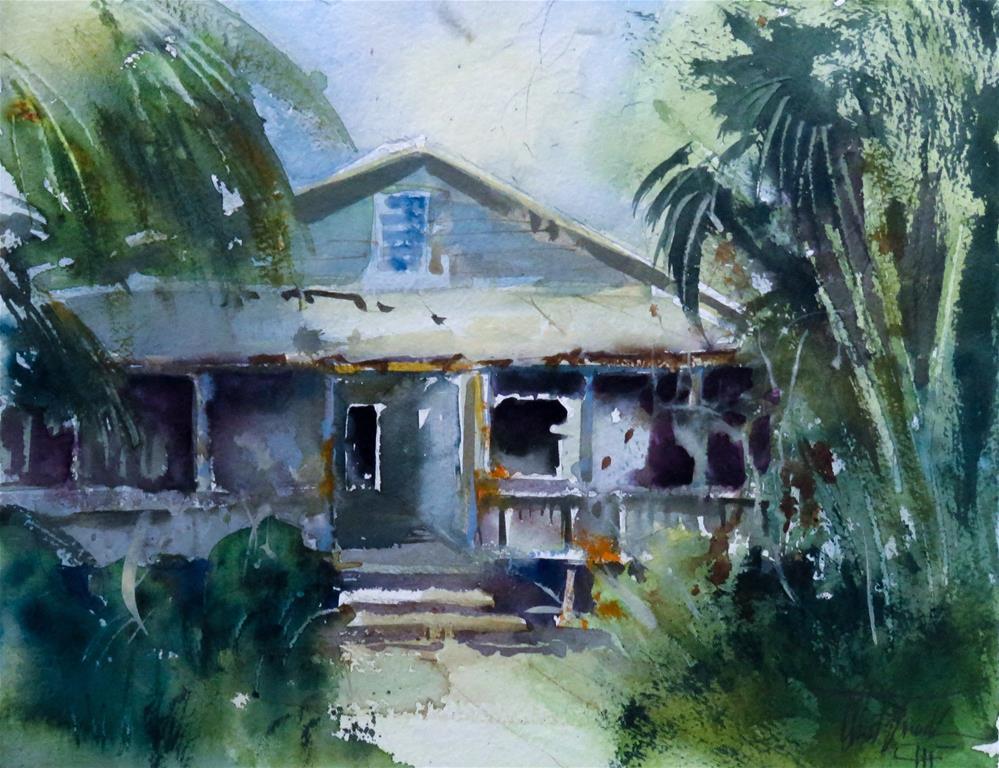 """Historic El Jobean Grand Hotel"" original fine art by Christa Friedl"
