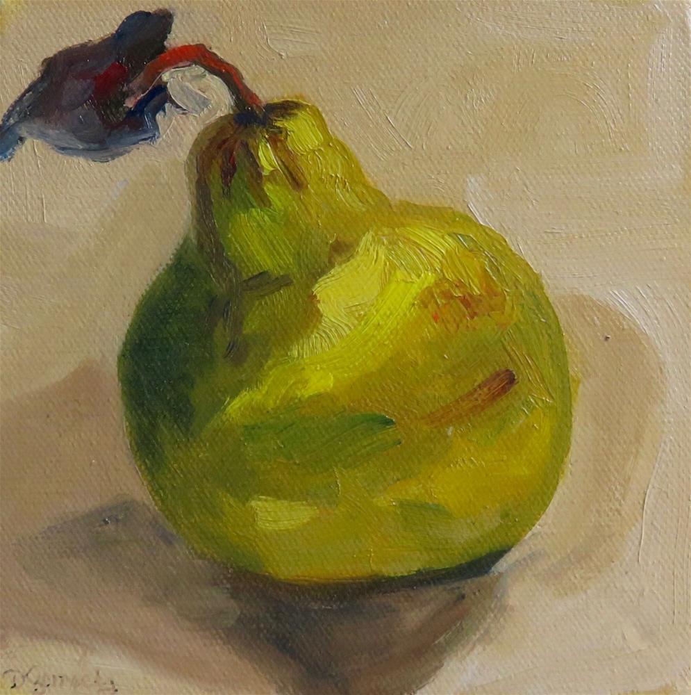 """Pear 3"" original fine art by Deborah Czernecky"