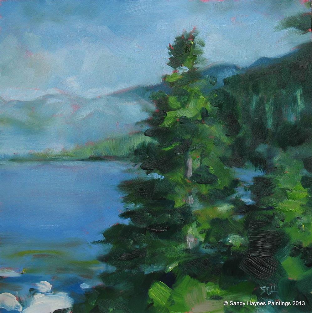 """""""Lake Tahoe #142"""" original fine art by Sandy Haynes"""