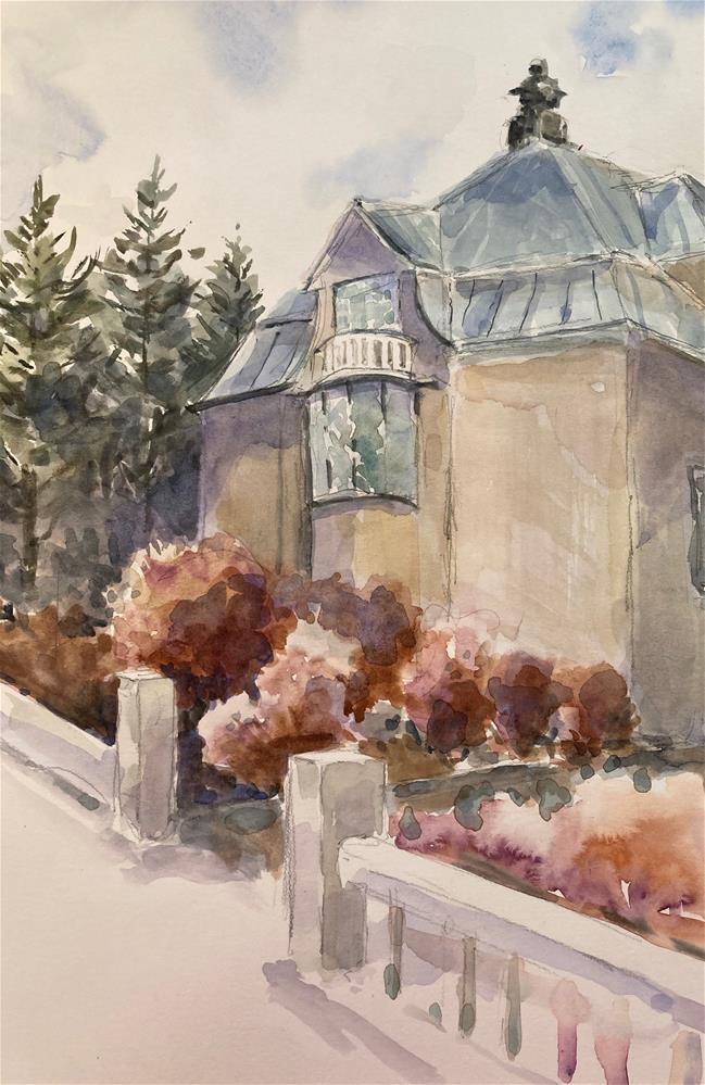 """Reykjavik House"" original fine art by Judith Freeman Clark"