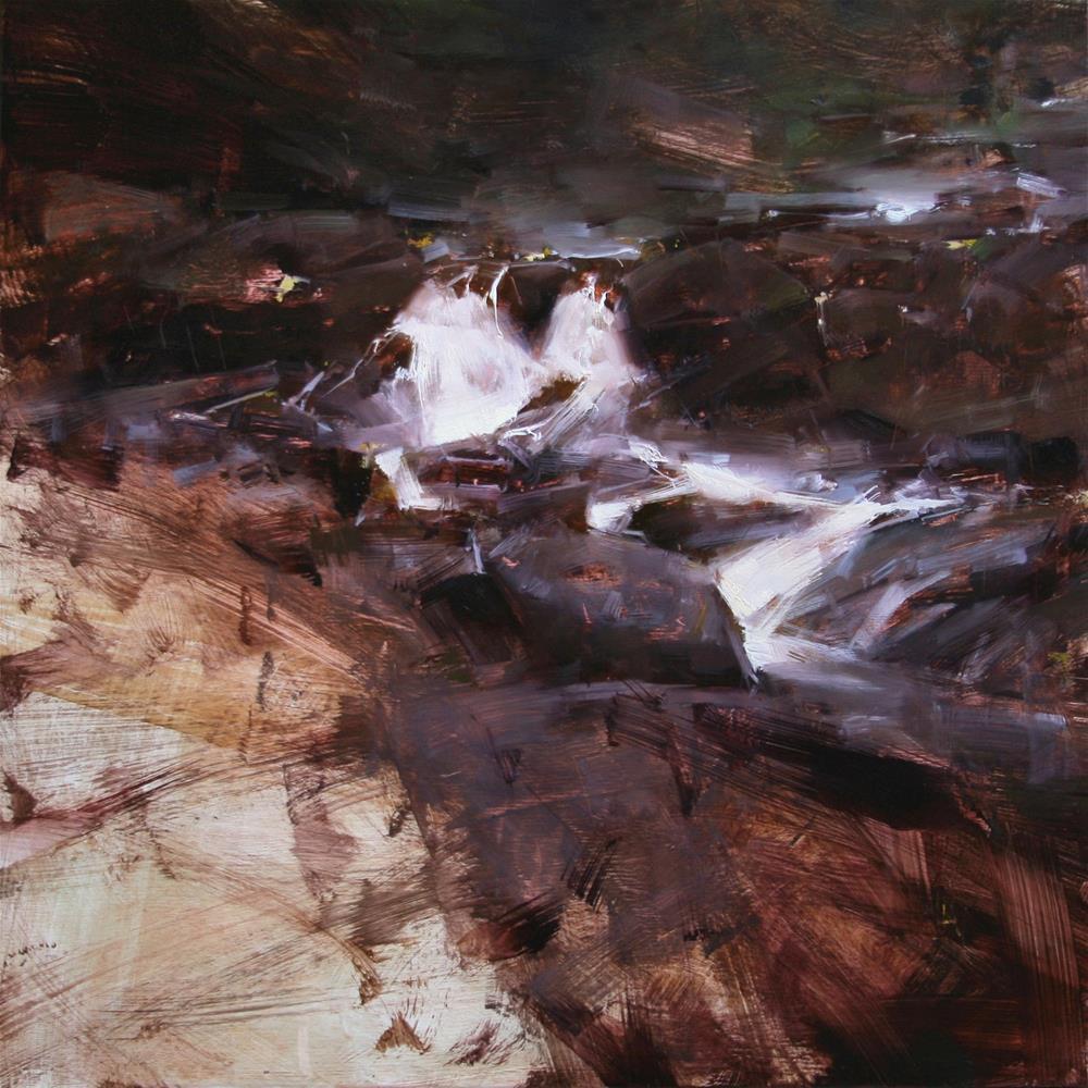 """Where the Water Divides"" original fine art by Tibor Nagy"