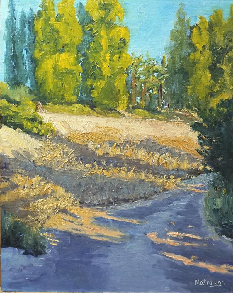 """Dusky Trail"" original fine art by Patricia Matranga"
