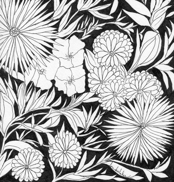 """""""Flowers 3"""" original fine art by Lou Belcher"""