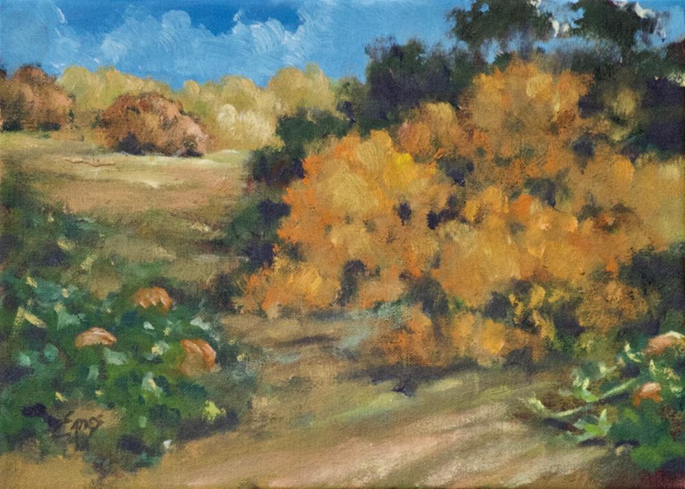 """Edge of the Patch"" original fine art by Linda Eades Blackburn"