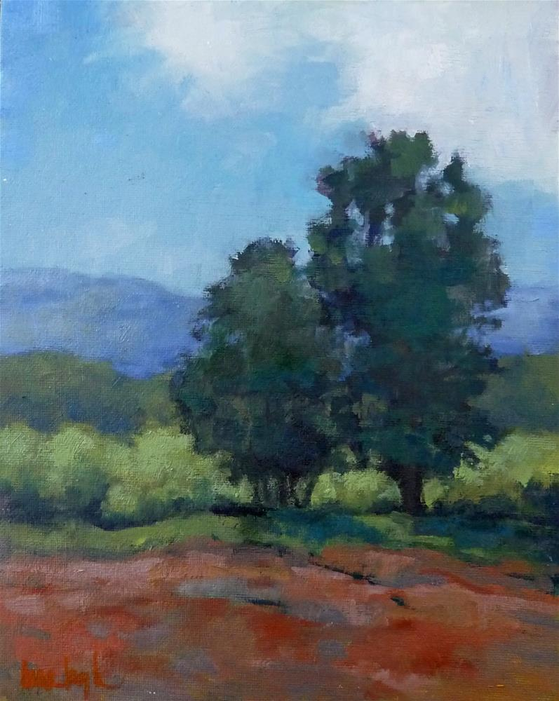 """Two Trees"" original fine art by Lisa Kyle"