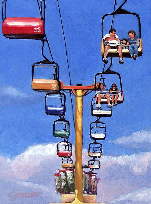 """Sky Riders-2"" original fine art by Joanna Bingham"