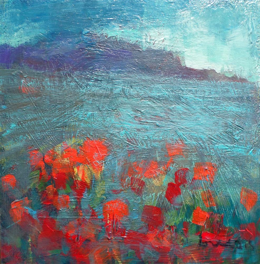 """""""RED FIELDS"""" original fine art by salvatore greco"""