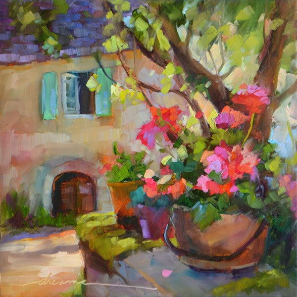"""""""Sunny Beginnings"""" original fine art by Dreama Tolle Perry"""