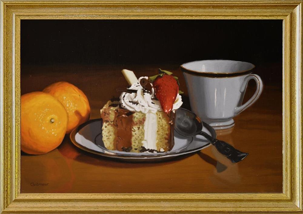 """Tea Time"" original fine art by M. Gilmour"