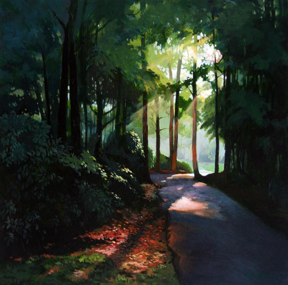 """""""Summer Evening"""" original fine art by Setsuko Lawson"""