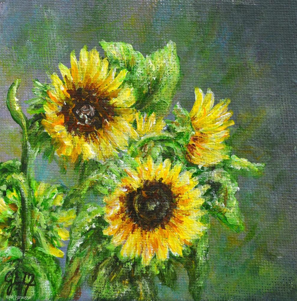 """Sunflower Sweets"" original fine art by Gloria Ester"