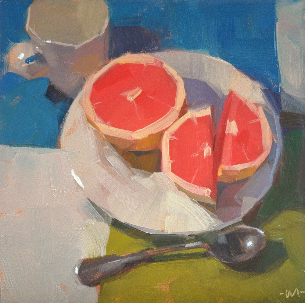 """Grapefruit Diet"" original fine art by Carol Marine"