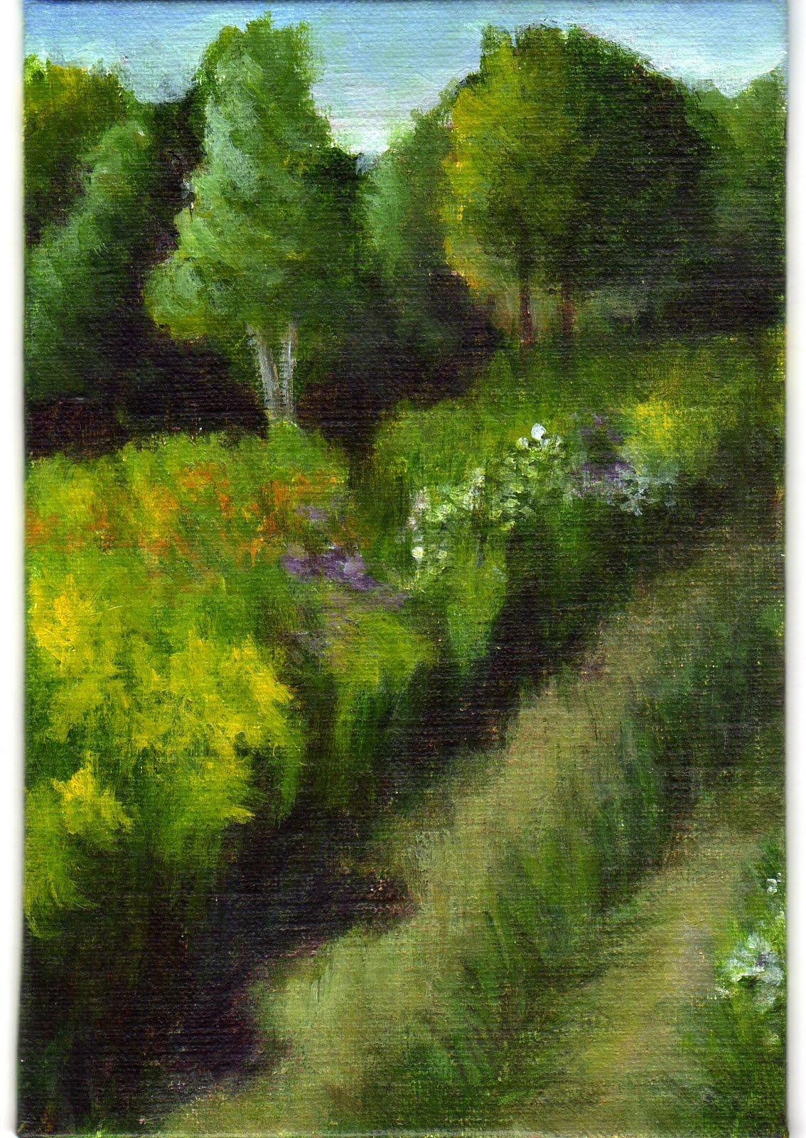 """""""Mountain Meadow"""" original fine art by Debbie Shirley"""