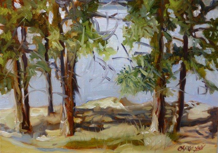 """View of Lake Okanagan"" original fine art by Carolynn Doan"