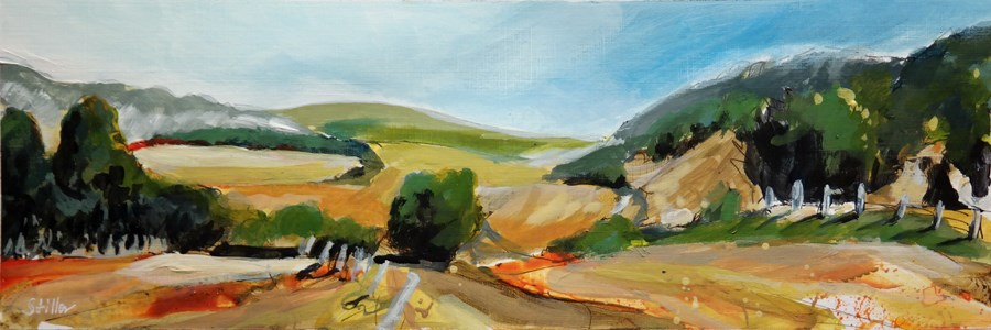 """2469 Acrylic Landscape Sketch VI"" original fine art by Dietmar Stiller"