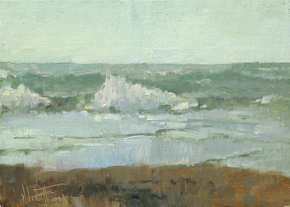 """Pacific Shore"" original fine art by Melanie Thompson"