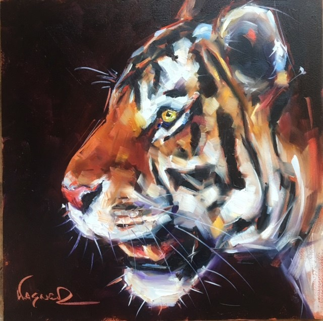 """Tiger"" original fine art by Olga Wagner"