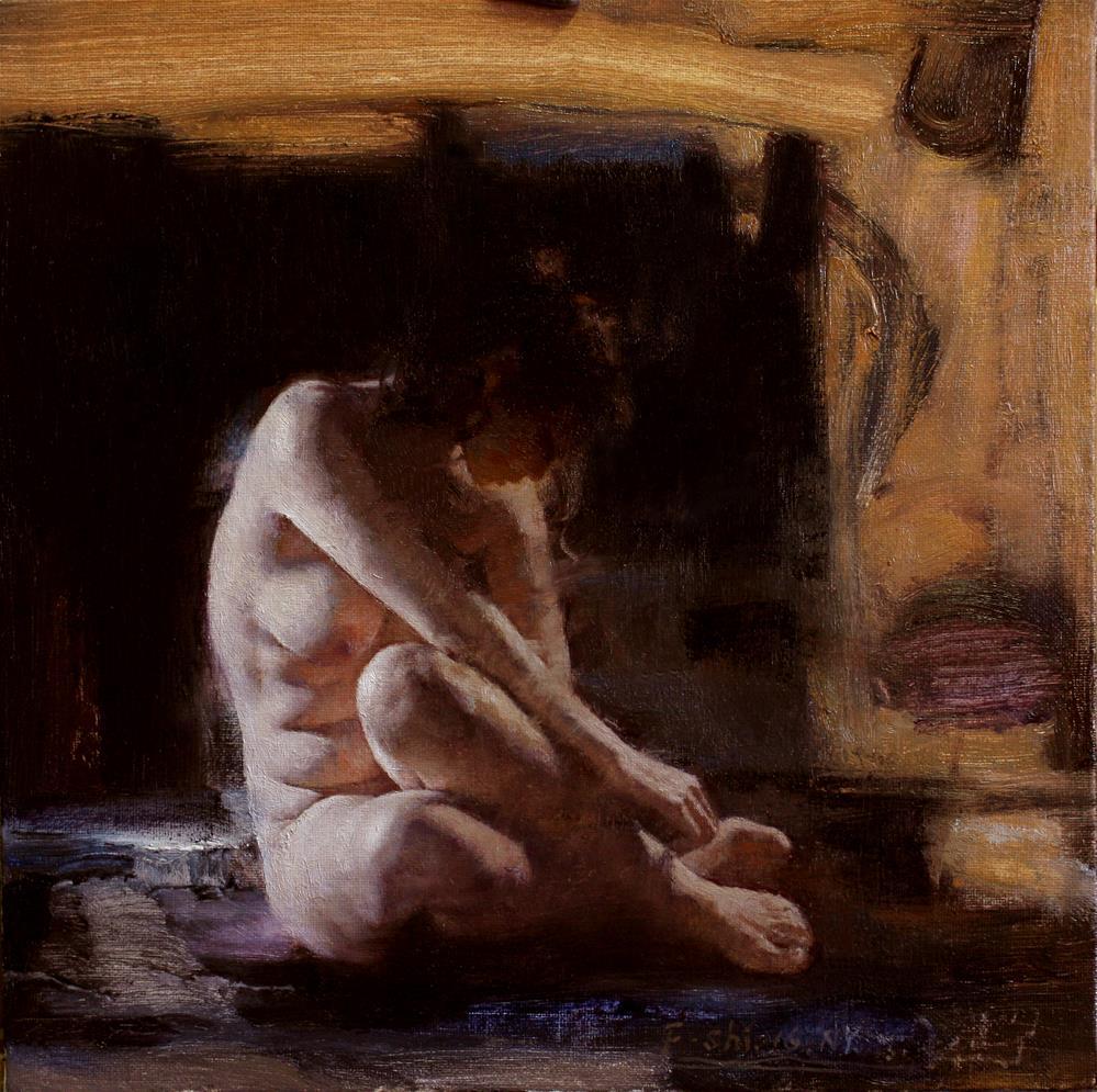"""Human body oil painting(4)"" original fine art by fengshi jin"