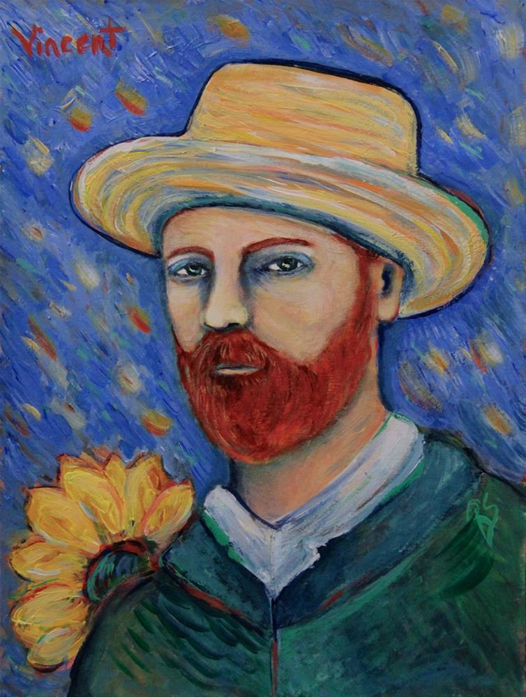 """Vincent"" original fine art by Roberta Schmidt ArtcyLucy"