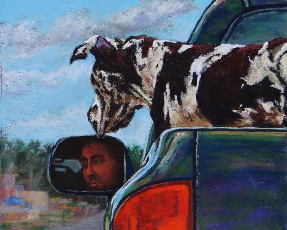 """K-9 Kruisin'"" original fine art by Denise Beard"
