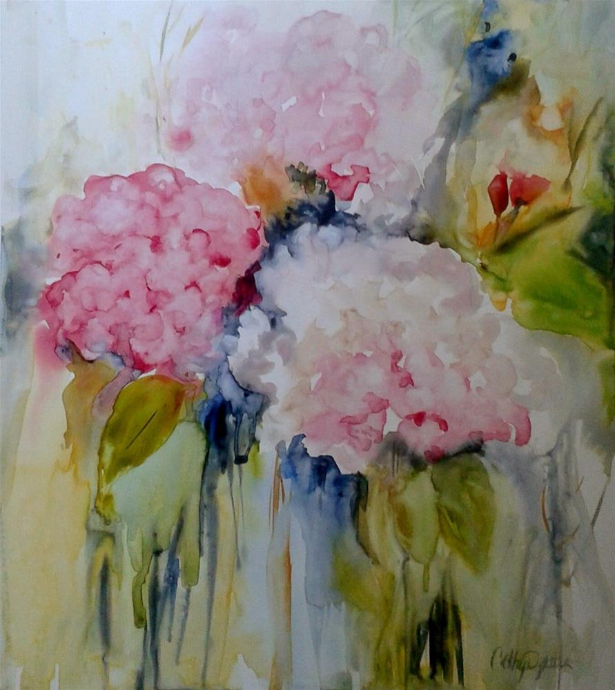 """Backyard Beauties"" original fine art by Cathy Dykstra"