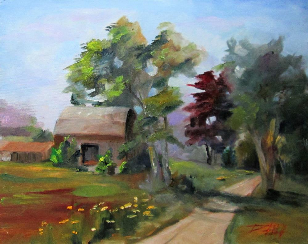 """""""Barn by the Road"""" original fine art by Delilah Smith"""