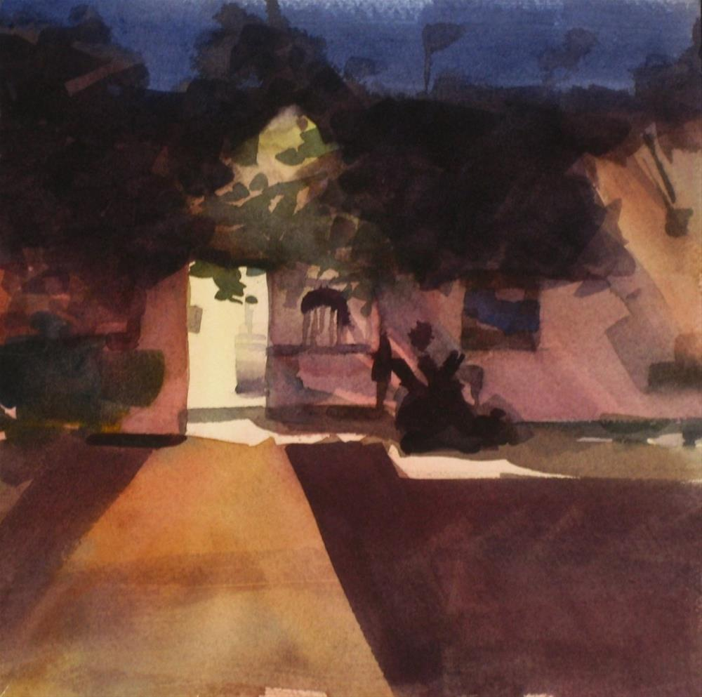 """Evening At Graber Olive House-watercolor"" original fine art by Karen Werner"