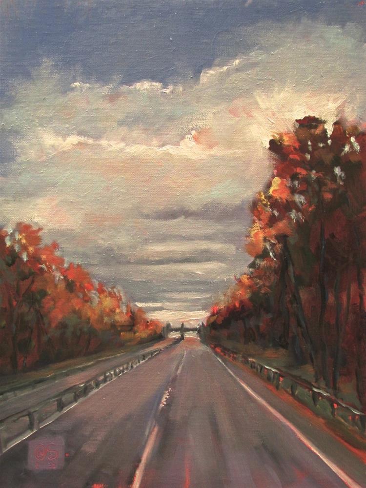 """""""Early on the Merritt"""" original fine art by Aurelio Saiz"""