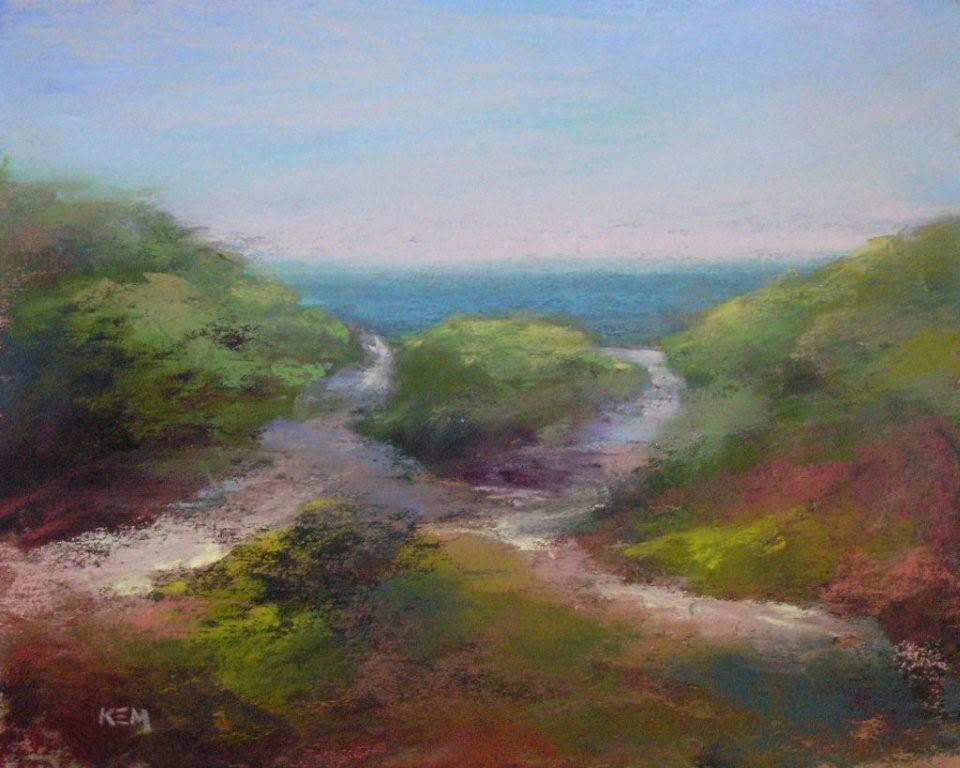 """Nantucket Dunes 8x10  pastel"" original fine art by Karen Margulis"