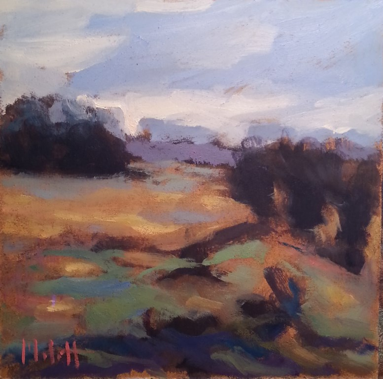"""Meadow 2 of 3 Shine Spring Summer Landscape Original Oil Painting"" original fine art by Heidi Malott"