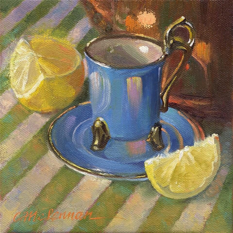 """""""Tall Teacup"""" original fine art by Connie McLennan"""