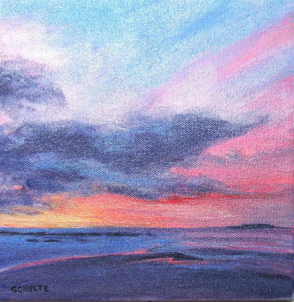 """Framed  Pink and Purple Flats"" original fine art by Lynne Schulte"