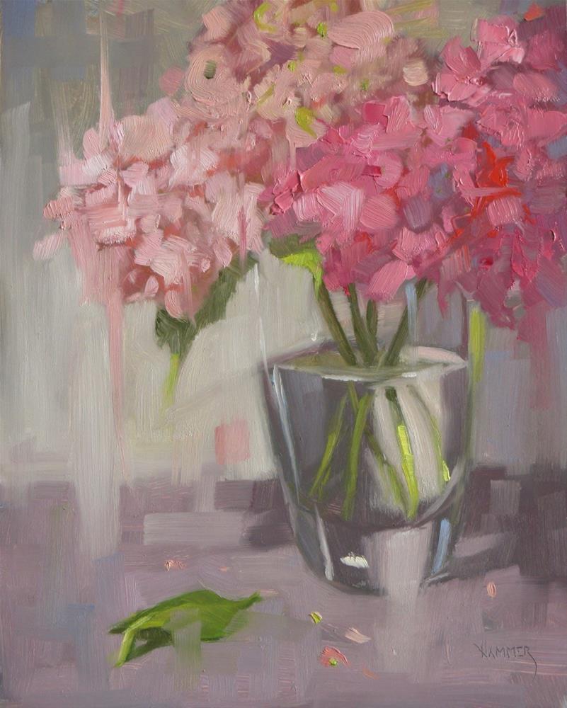 """""""Fallen leaf  8 x 10  oil"""" original fine art by Claudia Hammer"""