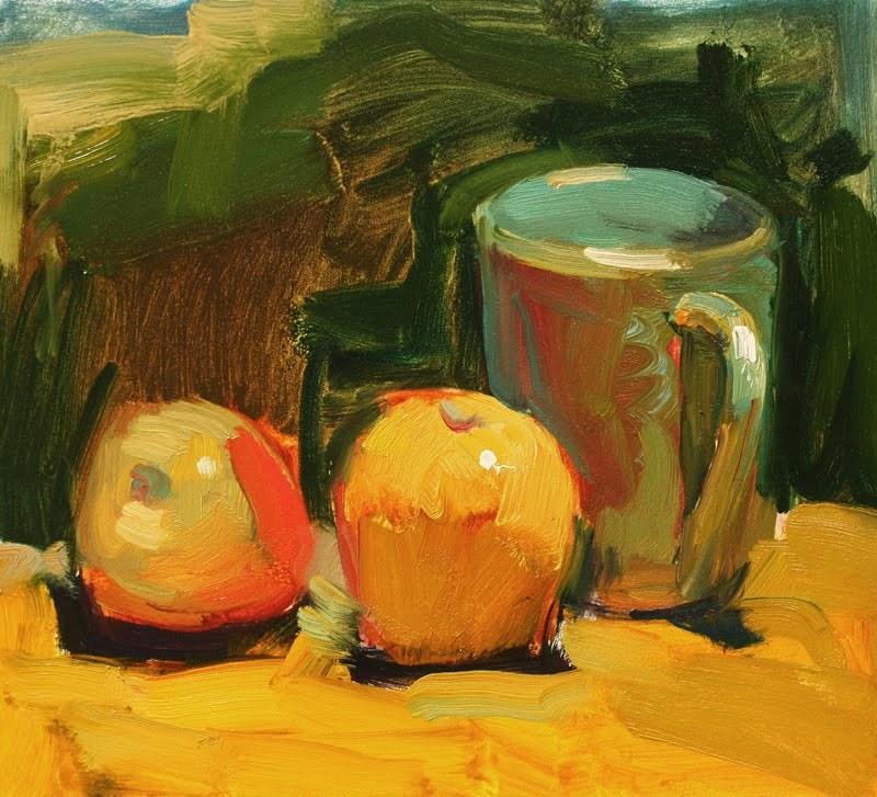 """Two Apples"" original fine art by Kathryn Townsend"